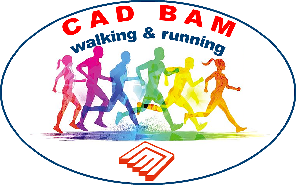 Logo Cad Bam walking & running